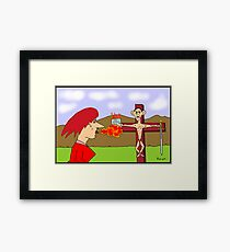 He Came To Slay The Dragon Framed Print