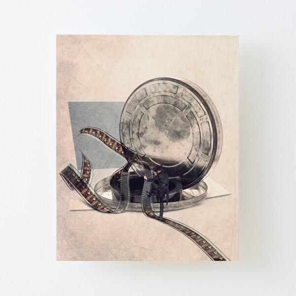 Cinema and illustration print Canvas Mounted Print