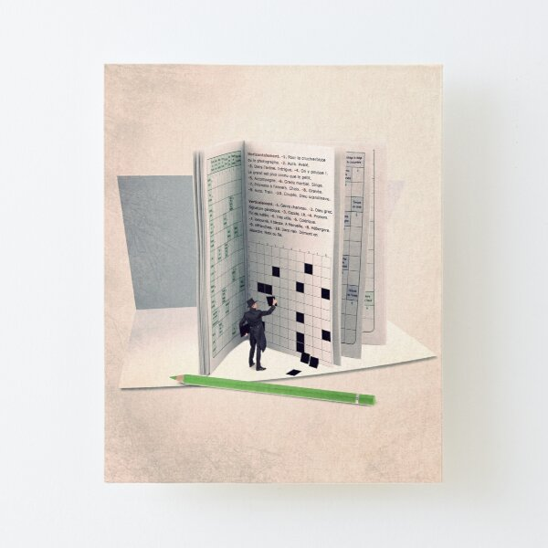 crossword illustration Canvas Mounted Print