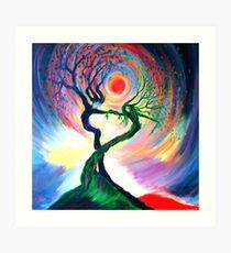 'Dancing tree spirits' by annie b. Art Print