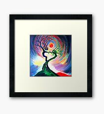 'Dancing tree spirits' by annie b. Framed Print