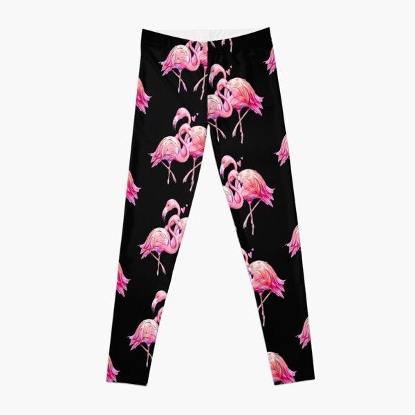 Flamingo Pattern Watercolor Art Leggings