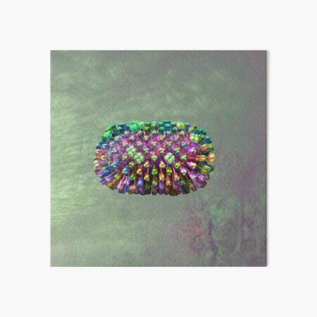 Rainbow Flu Pale Green Art Board Print