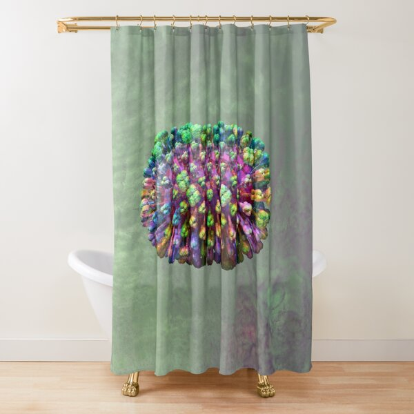 Rainbow Flu Pale Green Shower Curtain