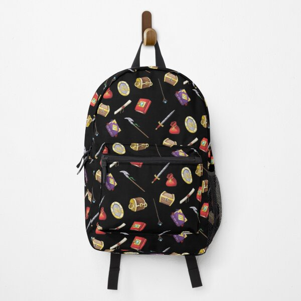 Fantasy Items Pattern Backpack