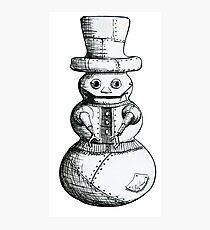 Steam Punk Robot Snowman Photographic Print