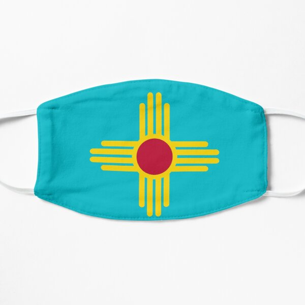 New Mexico Flag in Turquoise Mask