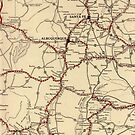 Retro New Mexico map by taylormorrill