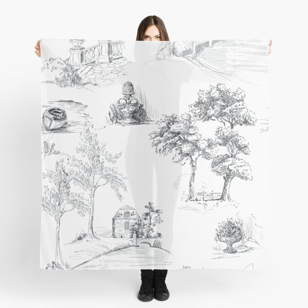Grey Toile   Grey Country Toile   Grey Cottage Toile    Black Toile  Scarf