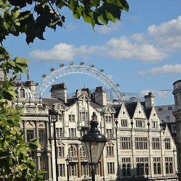 London Eye Over Buildings by facingthewindow