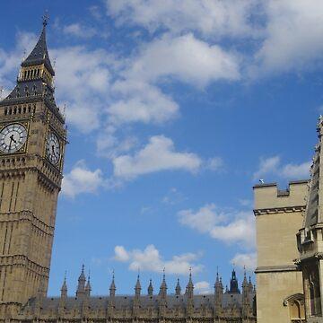 Big Ben Blue Sky by facingthewindow