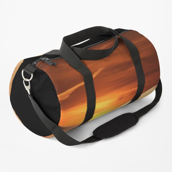 Dunes in the desert with sunset and black sky Duffle Bag