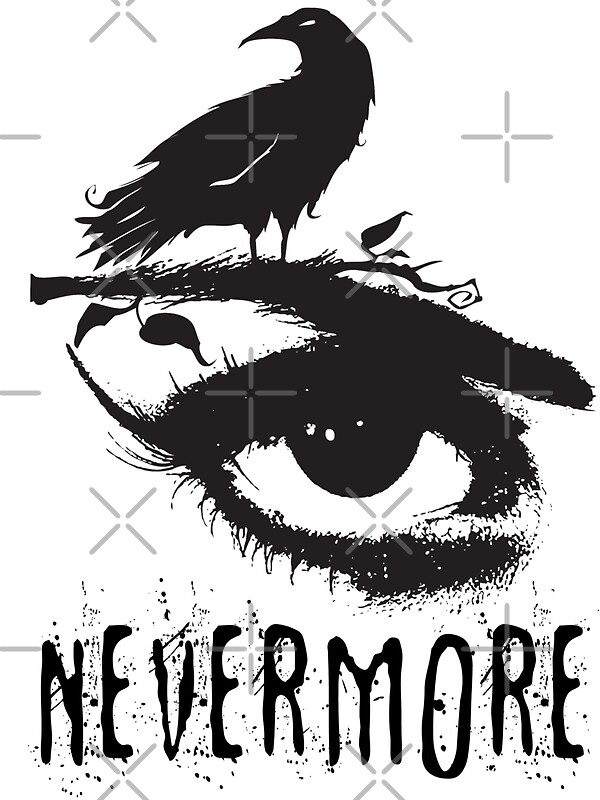 Nevermore - Edgar Allan Poe Inspired Design - The Raven Nevermore ...