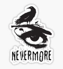 Nevermore - Edgar Allan Poe Inspired Design - The Raven Nevermore Sticker