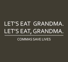 Commas save lives | Unisex T-Shirt