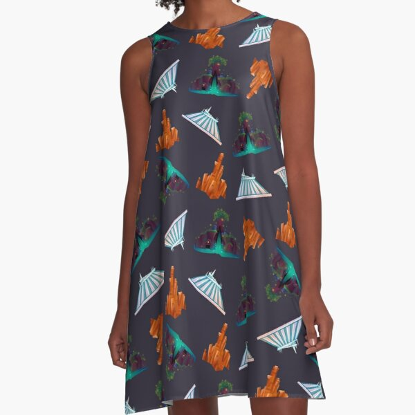 Magic Mountains A-Line Dress