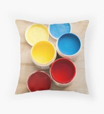 Paint Pots Throw Pillow