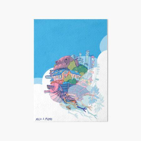 Flying Castle Art Board Print
