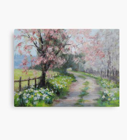 Original Acrylic Landscape Painting - Spring Walk Metal Print