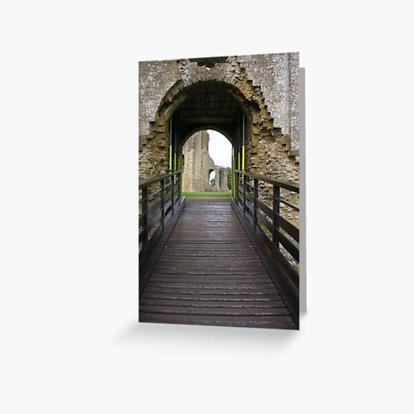 Over the Moat - Sherborne Old Castle Greeting Card