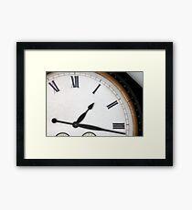 Vintage Roman Numeral Clock Framed Print