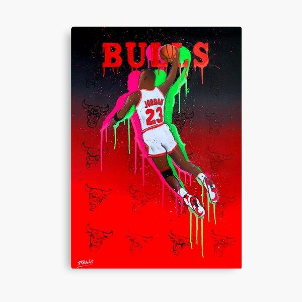 DUNK - Michael Jordan graffiti painting by DRAutoArt Canvas Print