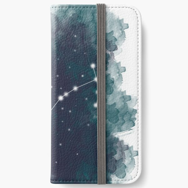 Watercolour Zodiac - Scorpio iPhone Wallet