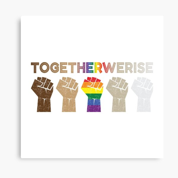 Together We Rise Canvas Print
