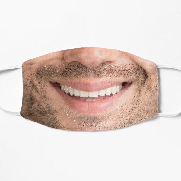 funny man beard smile mask (realistic face) Flat Mask
