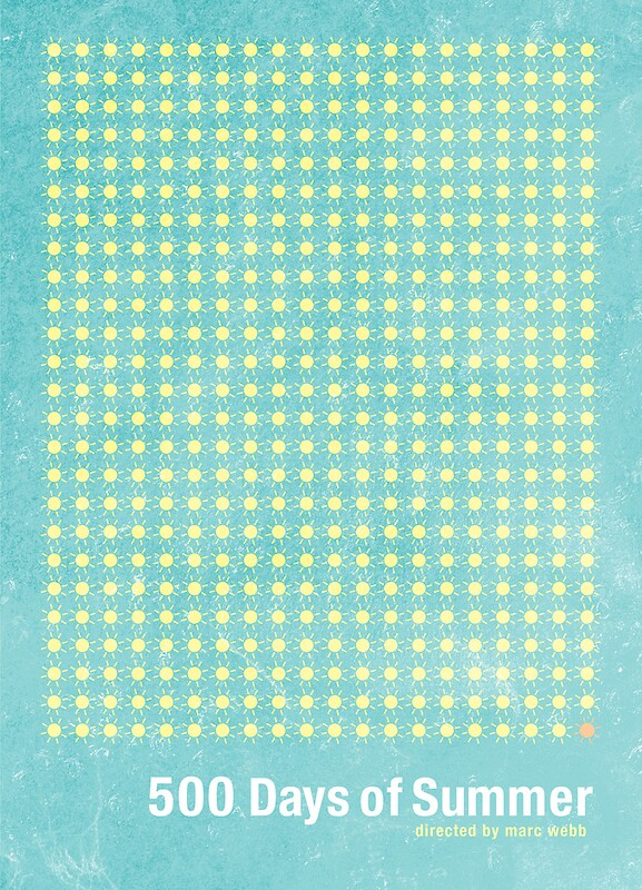 500 days of summer minimalist poster design posters by for Architecture drawing 500 days of summer