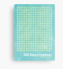 """500 Days of Summer""-minimalist poster design Canvas Print"