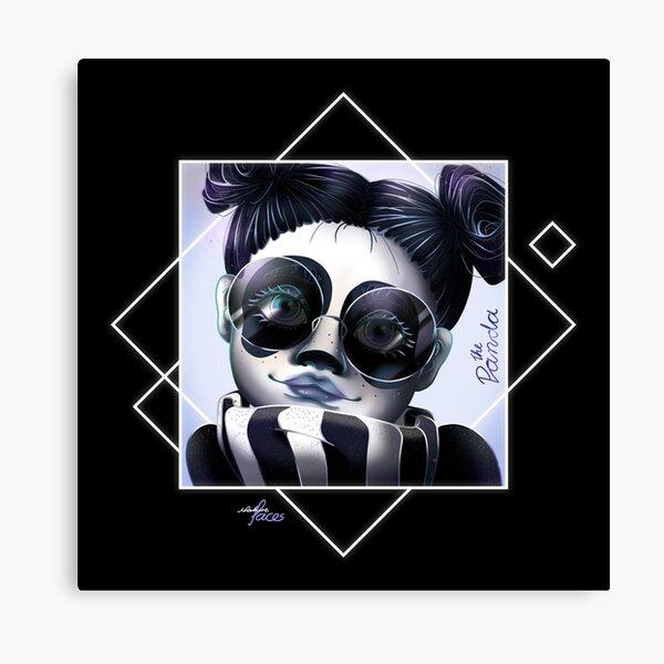 Natur Face Gesicht Frau Woman Umweltschutz Wandbild Poster Beaty Panda Schön Tier Animal Illustration Leinwanddruck