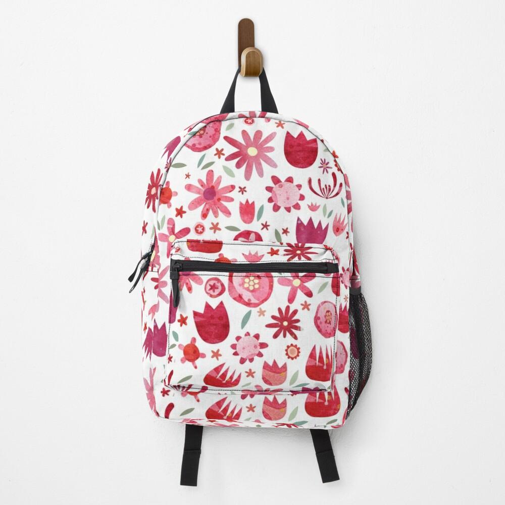 Summer Flowers Watercolor Backpack