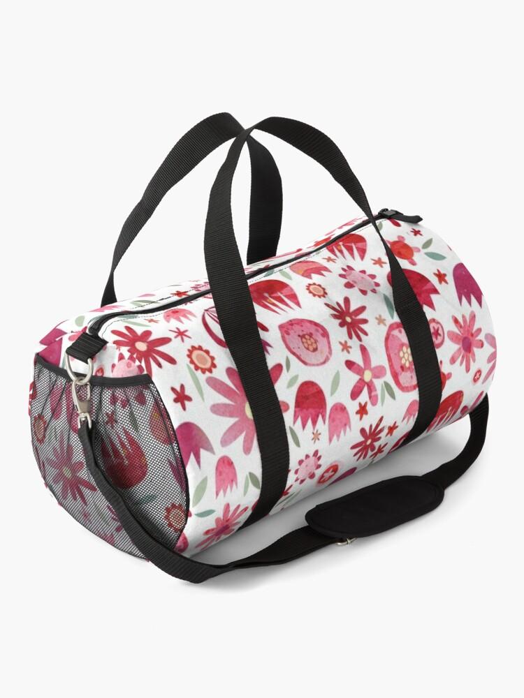 Alternate view of Summer Flowers Watercolor Duffle Bag
