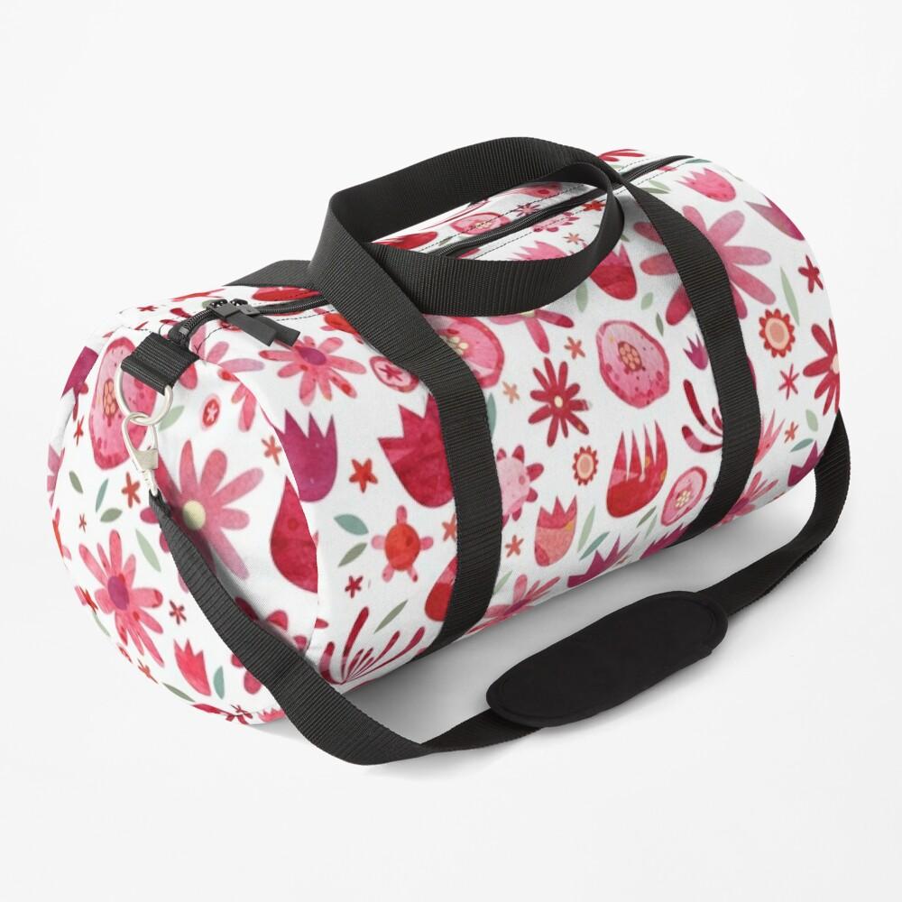 Summer Flowers Watercolor Duffle Bag