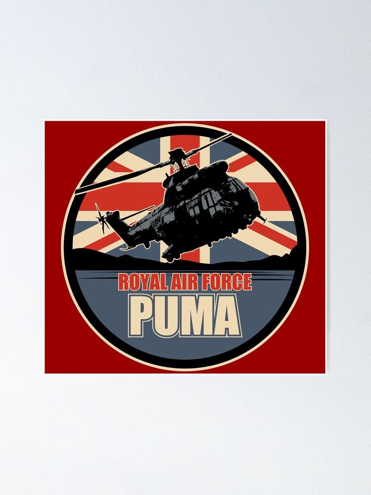 idea definido llamada  Royal Air Force Puma Patch
