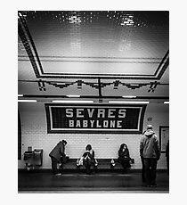 Paris Signature Series Metro 12/15 Photographic Print