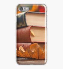 autumn reading  iPhone Case/Skin
