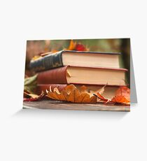 autumn reading  Greeting Card