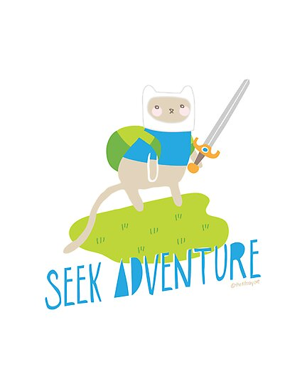 """Seek Adventure"" Kitty by thekitschycat"
