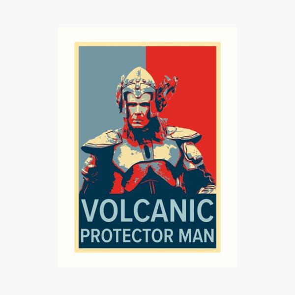 Volcano Man Poster Art Print