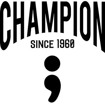 Hide & Seek Champion since 1960 Semicolon - Black on Grey Programmer Humor by ramiro