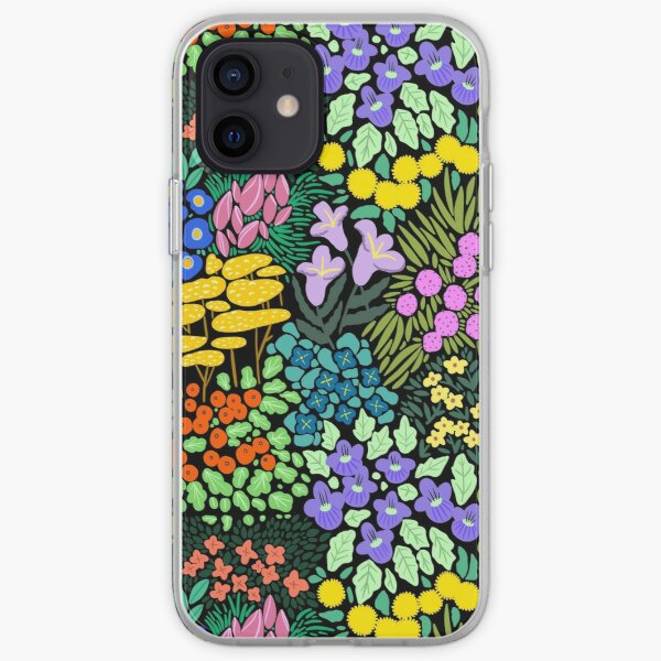 Field of Flowers (Black) iPhone Soft Case