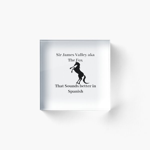 sounds better in spanish Acrylic Block