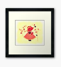 The Little Red Hat Framed Print