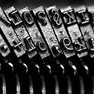 Typewriter keys by Falko Follert