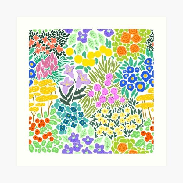 Field of Flowers (White) Art Print