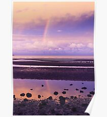 Rainbow over Bramble Bay Poster