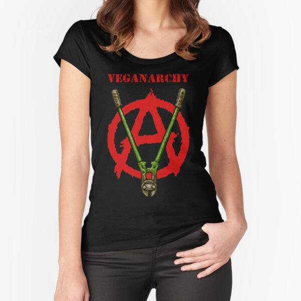 Veganarchy Fitted Scoop T-Shirt