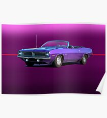 1970 Plymouth Barracuda Convertible Poster
